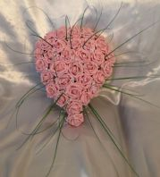 ARTIFICIAL WEDDING FLOWERS PINK FOAM ROSE BRIDE SHOWER WEDDING TEARDROP BOUQUET